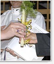 Sr. Noel handling candle