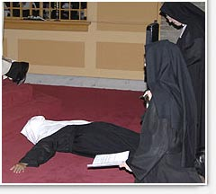 Prostration during the Litany of the Saints