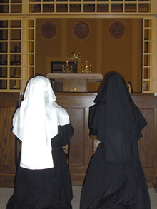 Adoration, two sisters